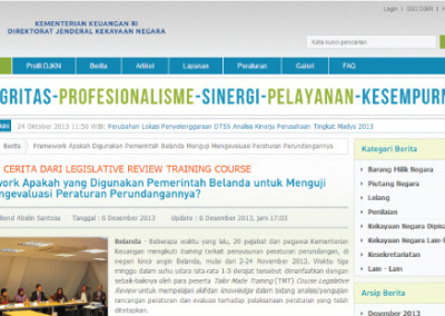 Indonesia // Acknowledgement of CILC support by Ministry of Finance