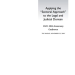 "Applying the ""Sectoral Approach"" to the Legal and Judicial Domain (2005)"