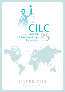 Anniversary brochure - 25 years of CILC