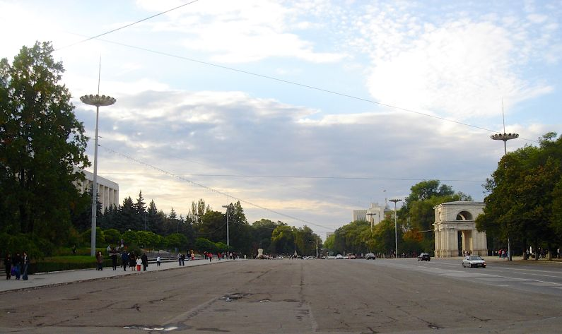 Chisinau the Stefan cel Mare Boulevard