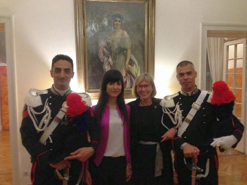 Walentich at Italian Embassy