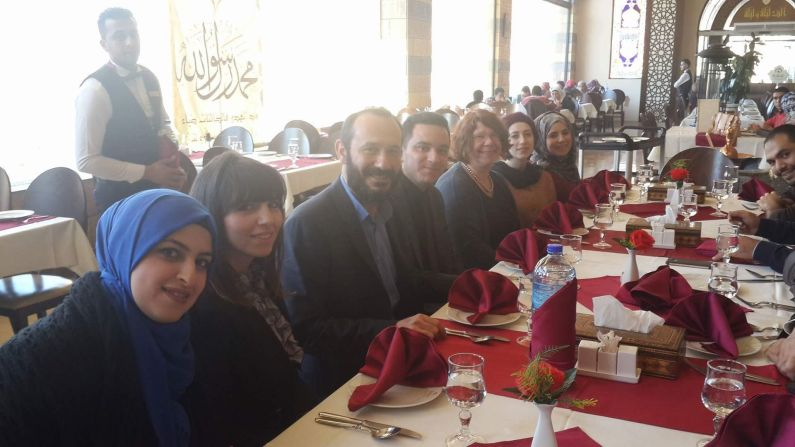 Dinner with law students at An-Najah University, Nablus