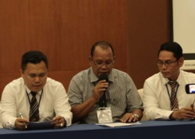 A local journalist from Ambon Express invited to contribute to the role play by the participants